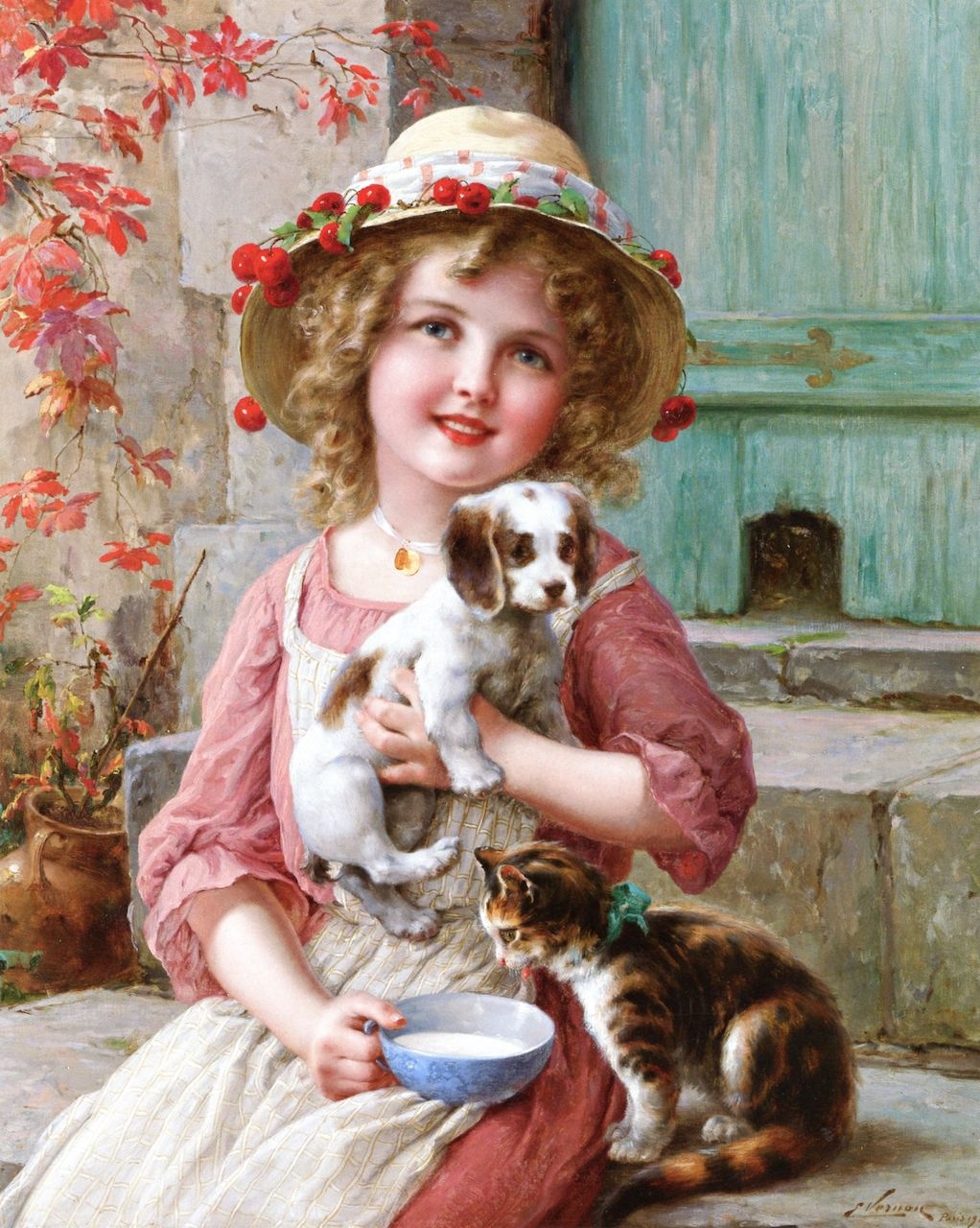 New Friends by Emile Vernon, 1917