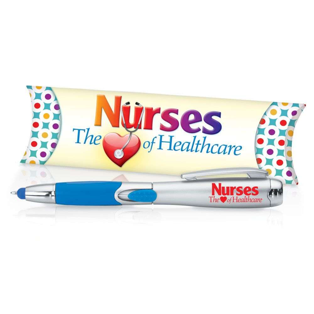 Nurses The (Heart) Of Healthcare 3In1 Stylus, Pen