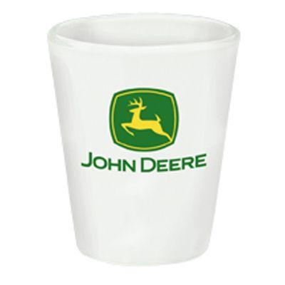 John Deere Logo | John Deere White 2oz Logo Shot Glass - 1553