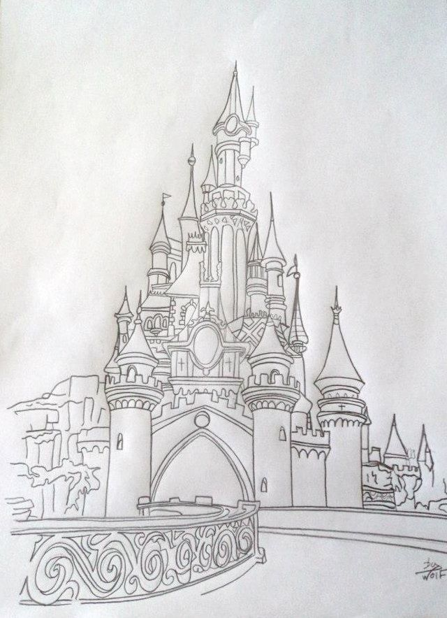 dessin au crayon de papier disney dessin au crayon de notre beau ch teau disney this. Black Bedroom Furniture Sets. Home Design Ideas