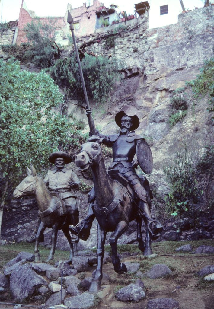 Statue Of Don Quixote In Guadalajara Mexico