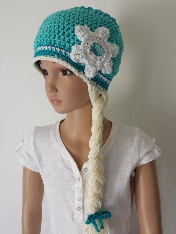 Frozen Inspired Elsa Snow Queen Hat with Braid by CraftyWanda