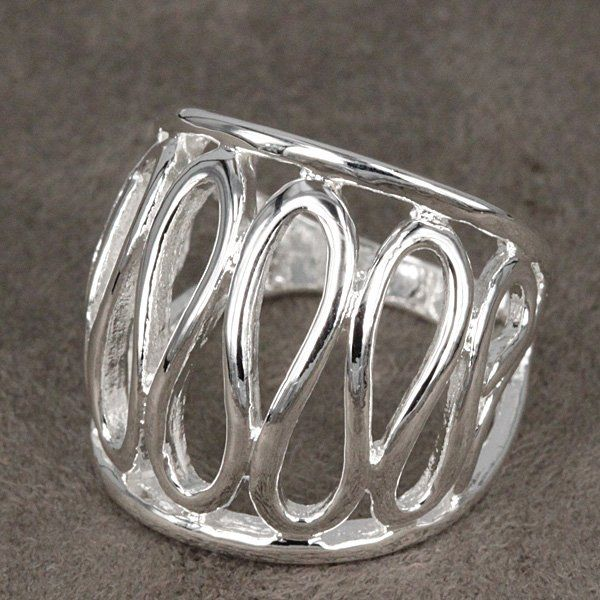 925 Sterling Silver Jewelry, Carven Rope, Silver Rings, Wedding Rings, Engagement Betrothal Rings R059