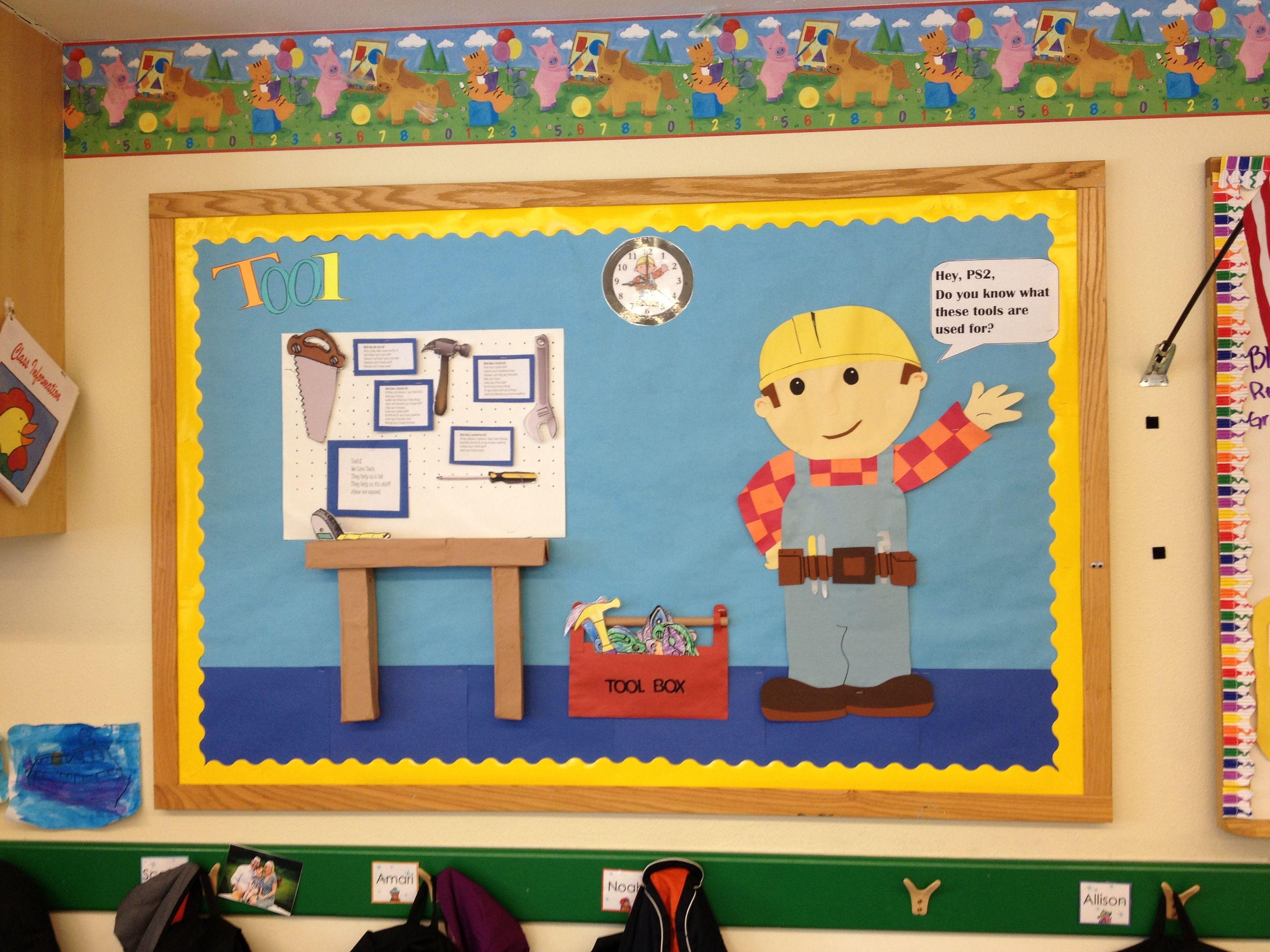 Bob The Builder Bulletin Board For Pre School Class On