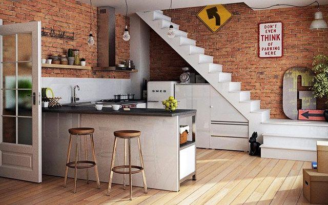 Aprovechando el espacio bajo la escalera ii cocinas for Decoracion de espacios bajo la escalera