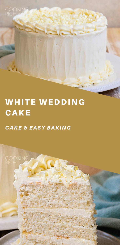 White Wedding Cake (With images) Wedding cake recipe