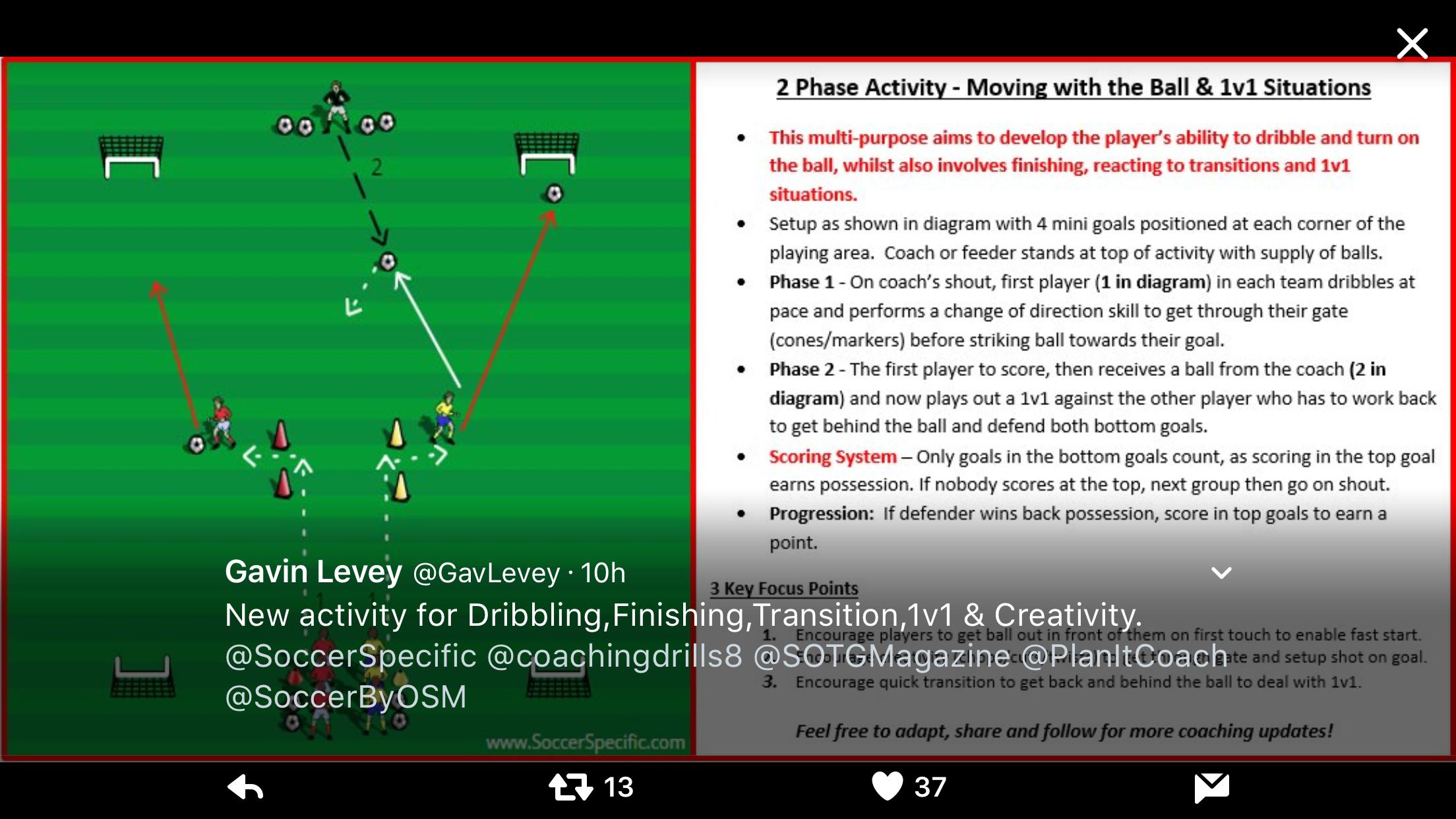 Pin van ben op Soccer drills Voetbal oefeningen
