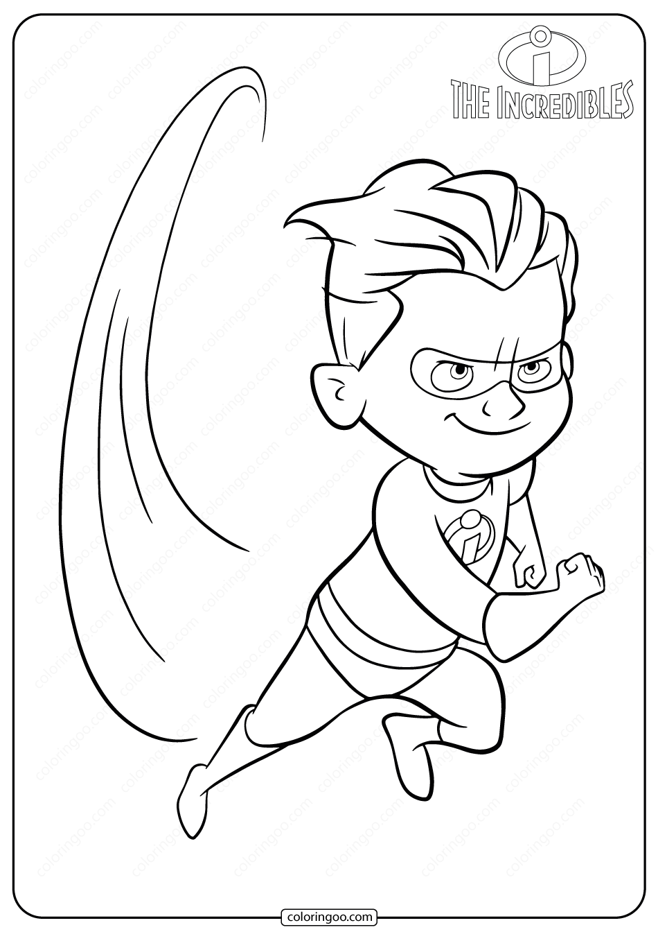 Disney The Incredibles Dash Coloring Pages in 2020 The
