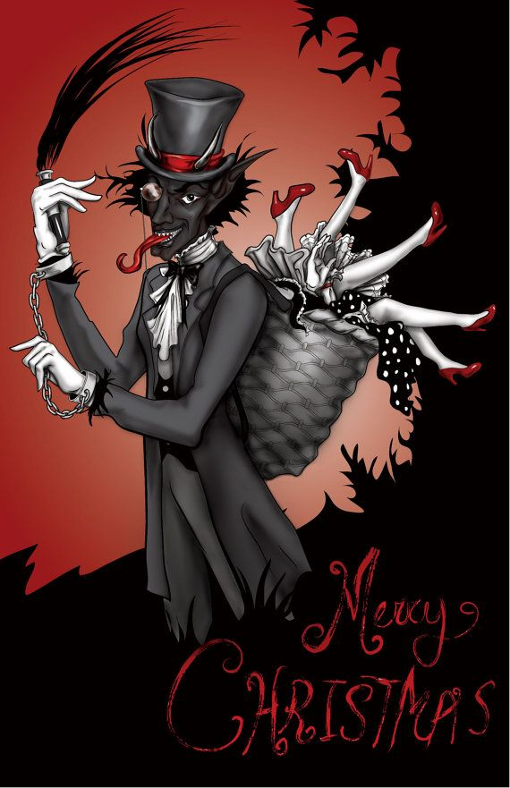Set of 10 Krampus Christmas Cards Christmas, Christmas cards and Cards