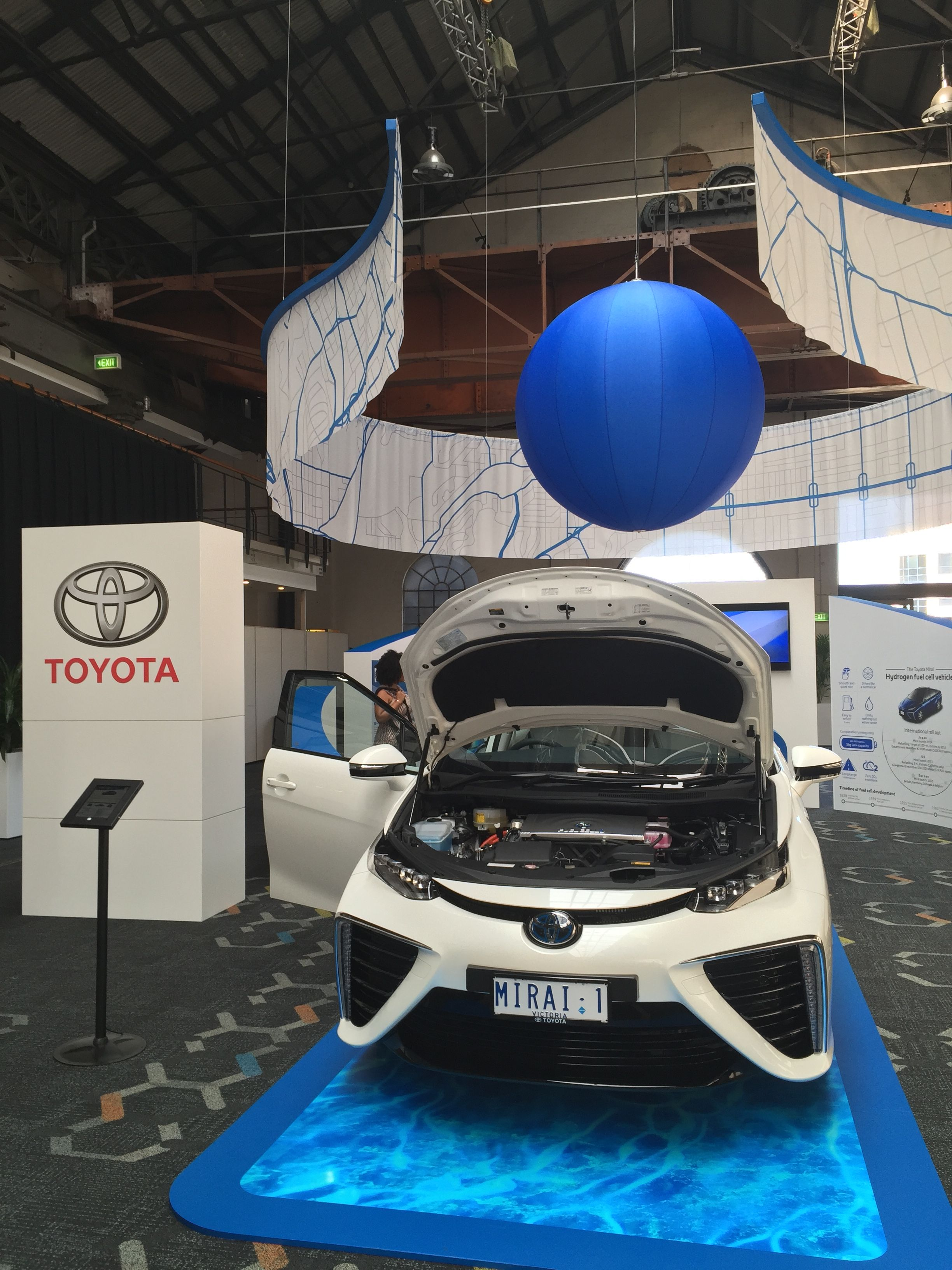 The unveiling of Toyota Australia's first commercially