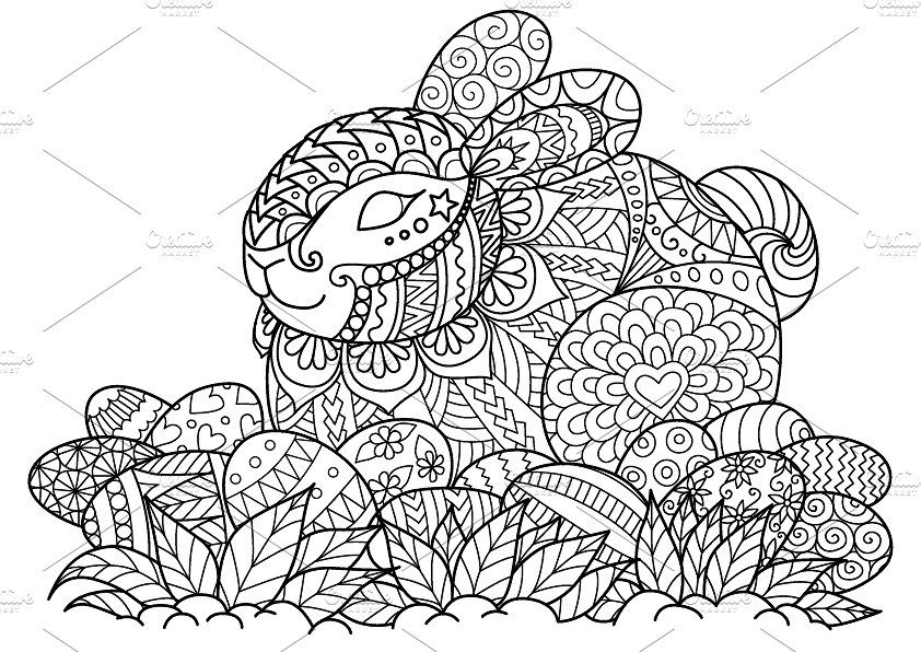 Happy Easter Coloring Page Easter Coloring Sheets Easter Colouring Coloring Easter Eggs