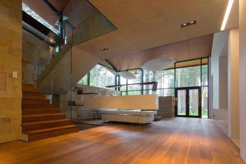 Diseño de Interiores & Arquitectura: Moderna Casa de Campo Flügel en ...