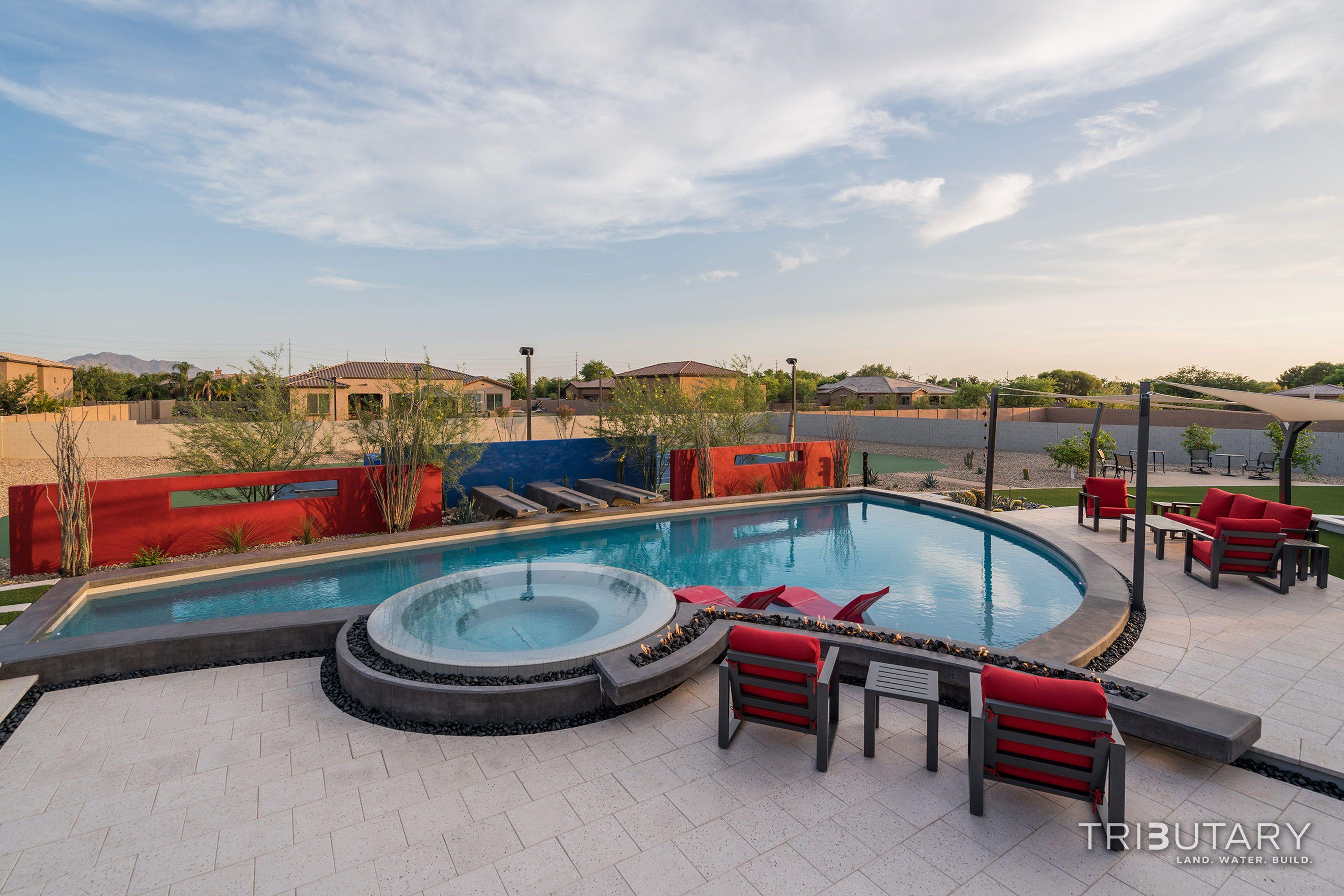 Tributary Pools Custom Pool Sleek Oasis Gilbert Diy Network Pool Kings Gilbert Arizona Paradise Luxury Pool Jeromey Naugle Watershapes