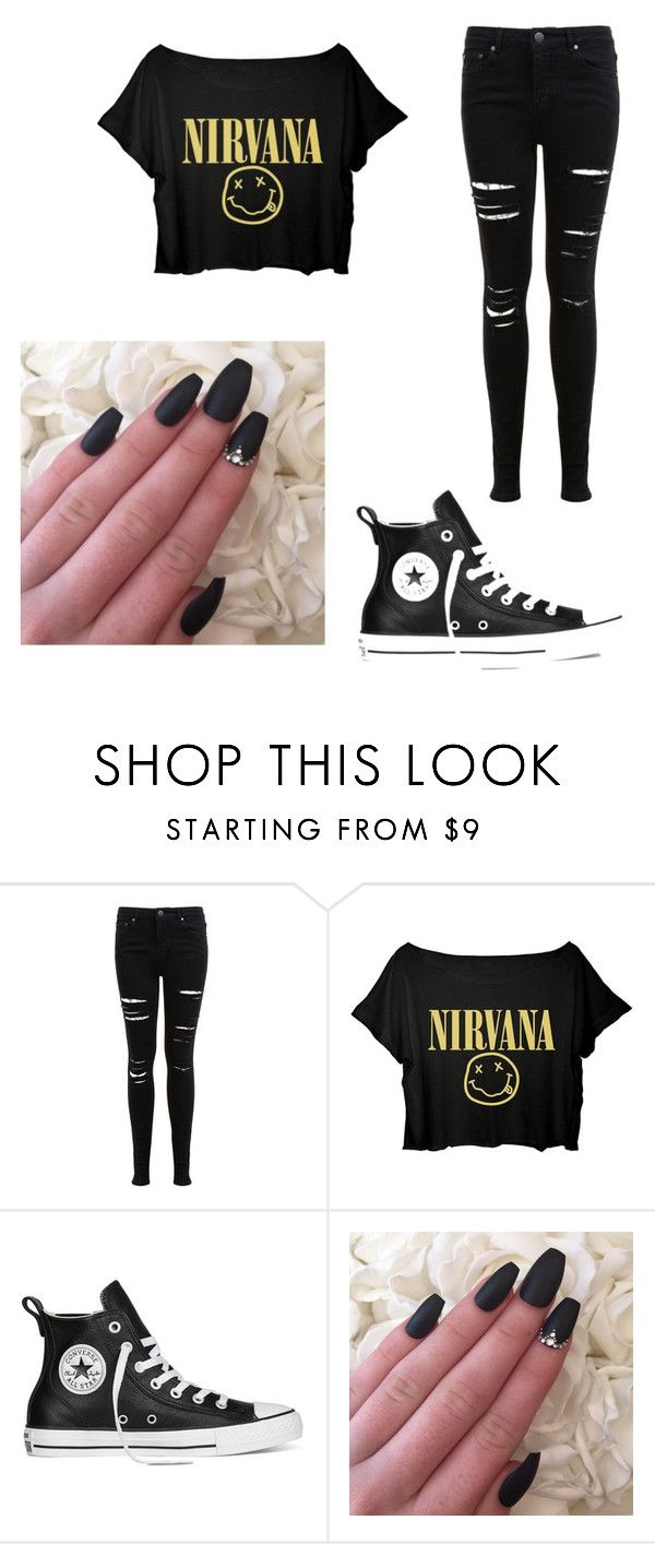 """""""~Emo Chick~"""" by rachel-west99 ❤ liked on Polyvore featuring Miss Selfridge, Converse and emo"""