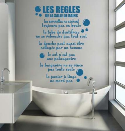Stickers Règles de la Salle de bains - Stickers Malin | Stickers ...