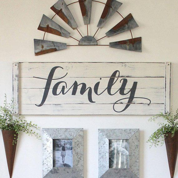 40 Rustic Living Room Ideas To Fashion Your Revamp Around: GATHER SIGN 4 Piece SET Rustic Gallery Wall Set Rustic