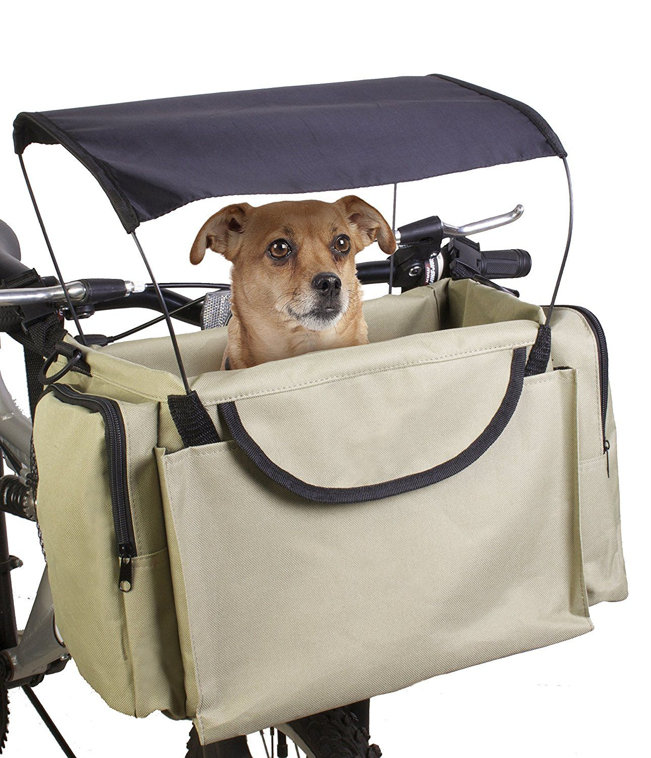 Easy Install Detachable Cycling Bag with Big Side Pockets Pet Carrier//Booster Backpack for Dogs and Cats Dog Bicycle Carriers