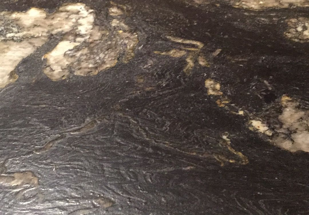 Leathered Black Anium Granite Textured And Dull Very Easy To Clean