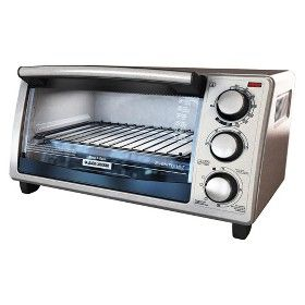 Black Decker 4 Slice Natural Convection Toaster Oven Stainless