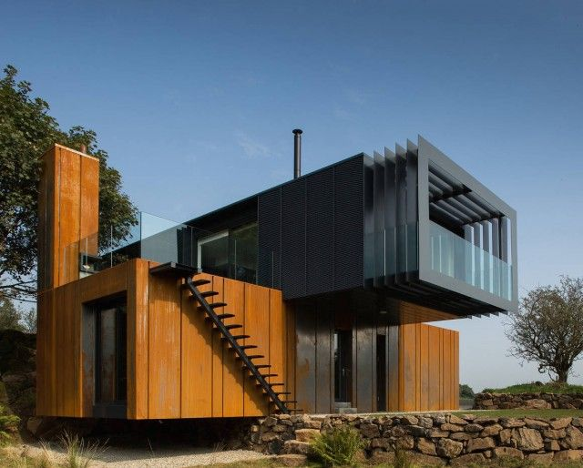 container house - Tree House Plans Metal Crate