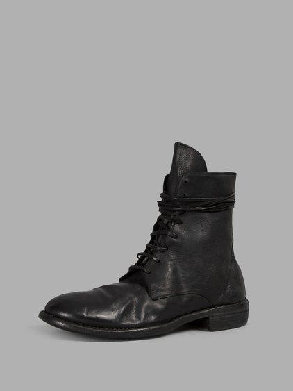 GUIDI Guidi Men'S Black Lace-Up Boots. #guidi #shoes #boots