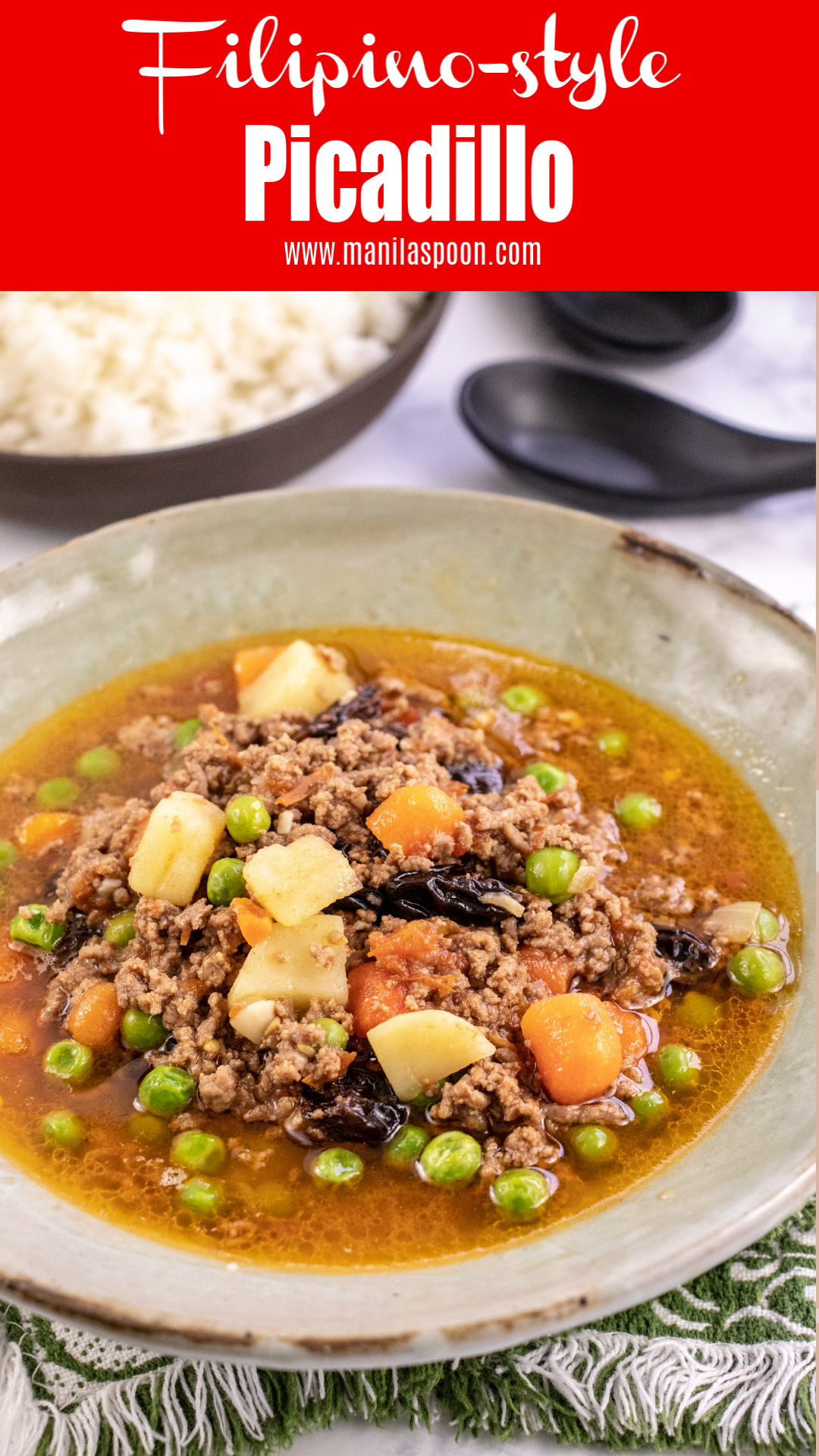 Instant Pot Or Stove Top Filipino Style Picadillo Ground Beef And Vegetable Stew Manila Spoon In 2020 Ground Beef Filipino Recipe Recipes Multi Cooker Recipes