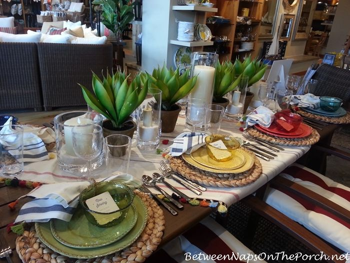 Flameless Candles for Summer Table Settings | Table settings ...