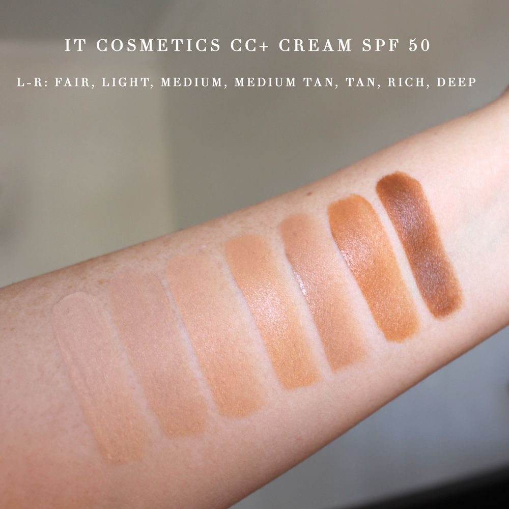 It Cosmetics Cc Cream Spf 50 Review And Swatches My Beauty Bunny Cruelty Free Lifestyle Blog It Cosmetics Cc Cream It Cosmetics Cc Cream Swatches Cc Cream