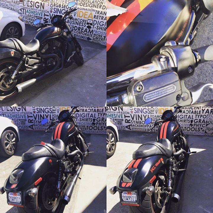 Stripes Hardley Roar Motorcycle Vinyl Decals Followfollow - Vinyl stripes for motorcycles
