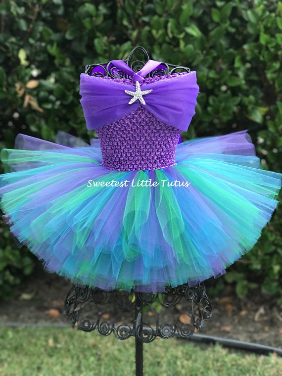 Mermaid Tutu Dress Mermaid Tutu Mermaid Birthday Dress