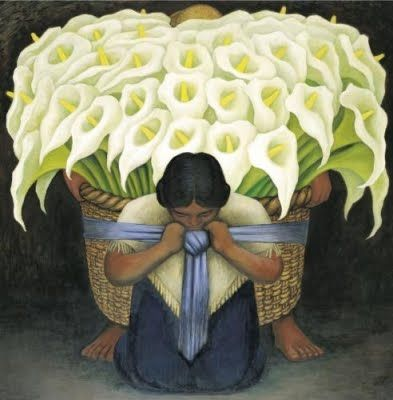 FLOWER CARRIER Diego Rivera 8x10 In Art Poster Repro.