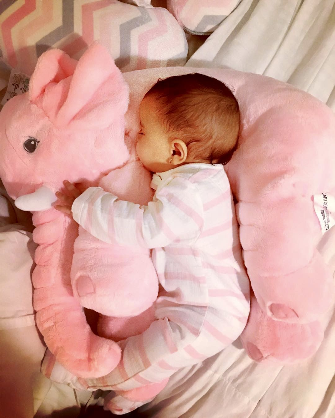 Pink Plush Elephant Pillow Toy in 2020