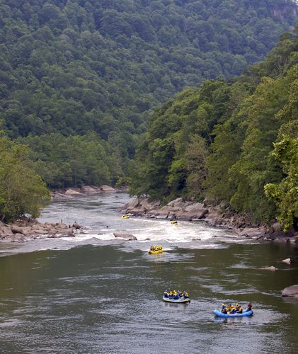 Backpacking West Virginia: New River Gorge - Went White Water Rafting!