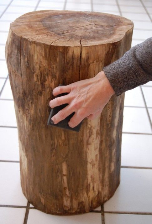 Stumped How To Make A Tree Stump Table Tree Stump Table Diy