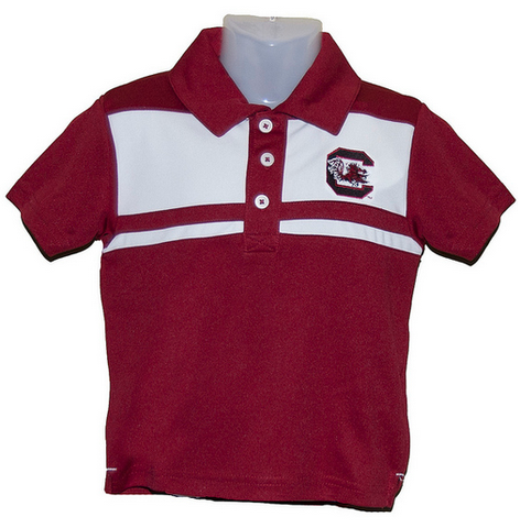 Boys- University of South Carolina Garnet and White Polo with Block C - Football Belles- USC