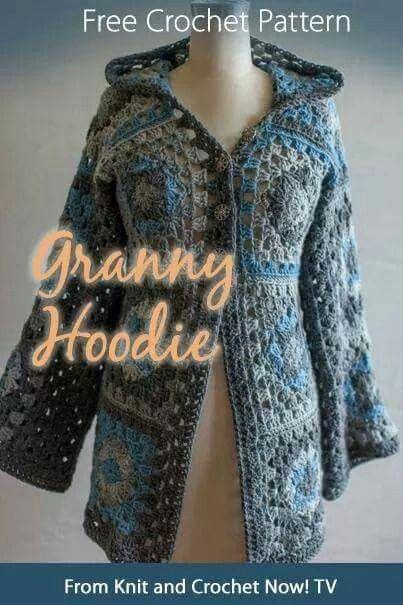 Granny hoodie | crochet projects | Pinterest | Jacke häkeln, Jacken ...