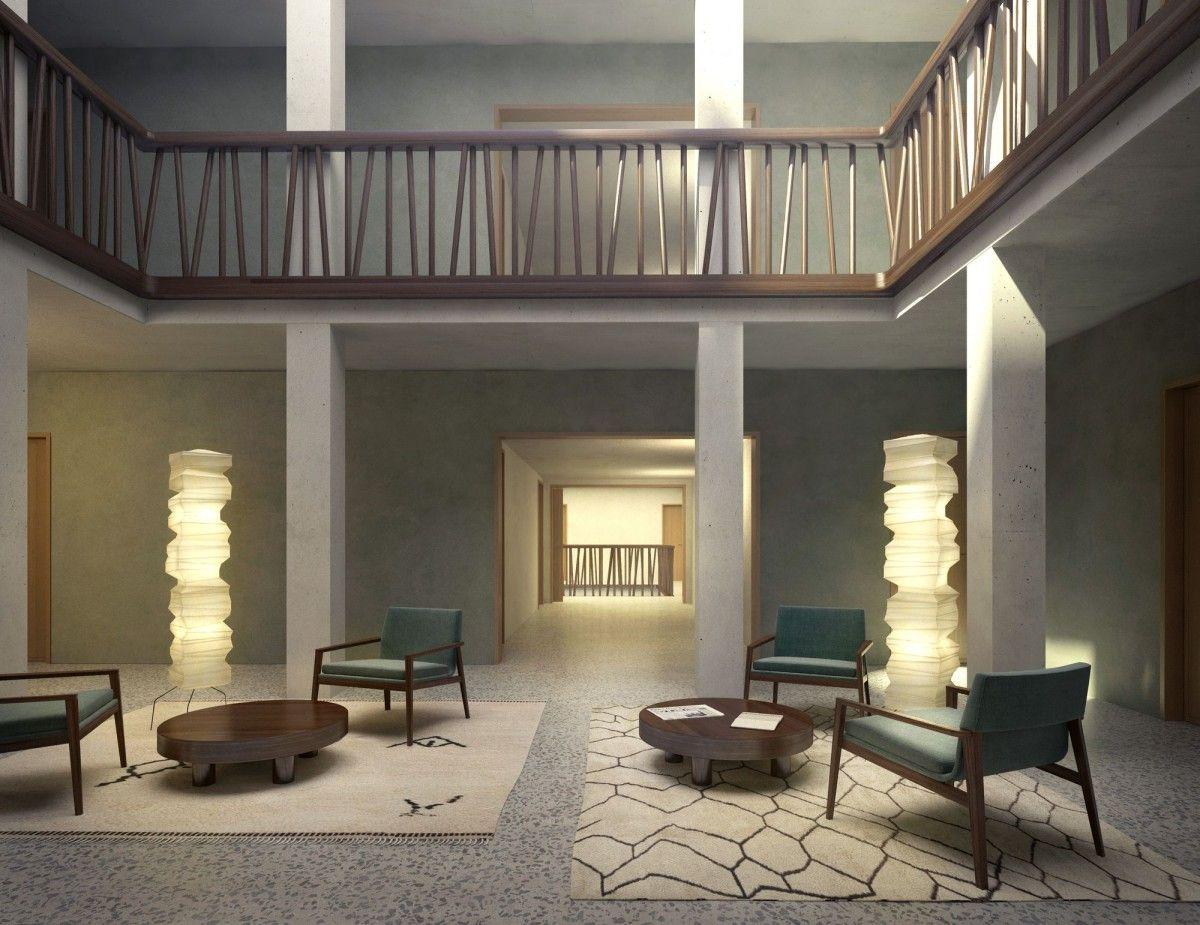 Architektur Rendering miller und maranta architekten neue hotel schiff rheinfelden commercial interiors