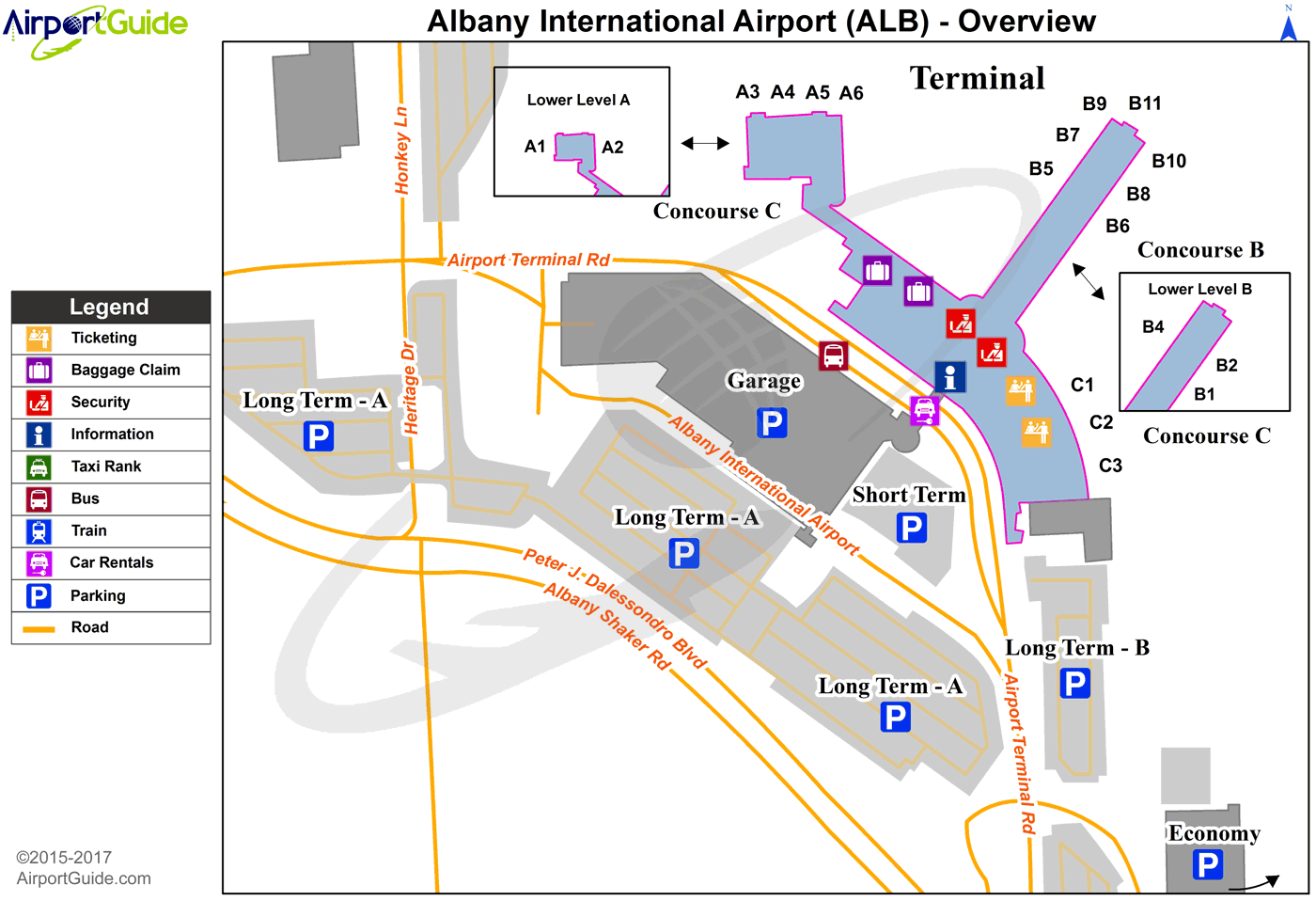 albany airport terminal map Albany Albany International Alb Airport Terminal Map Overview Airport Guide Airport Airports Terminal albany airport terminal map