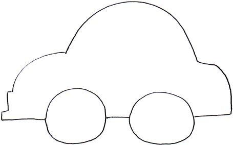 image relating to Car Template Printable identify Felt Board Form Town with Homes Vehicles toward rejoice