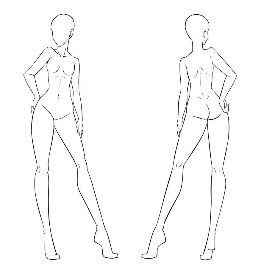 Ftu Clothes Model Front And Back Female By Izumi Sen Deviantart On