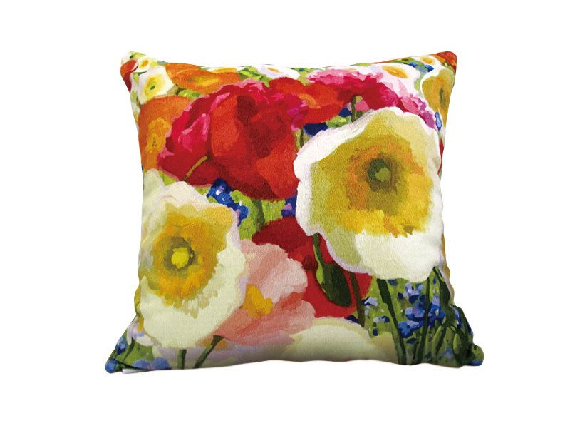 Decorative Velvet throw pillowcase poppy pillow cushion cover poppy design on both sides by WhooplaArt on Etsy https://www.etsy.com/listing/125870146/decorative-velvet-throw-pillowcase-poppy