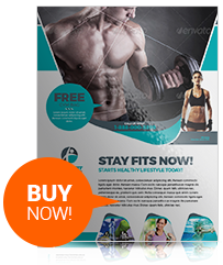 Sport & Fitness Flyer Vol.04 #AD #Fitness, #AFF, #amp, #Sport, #Vol