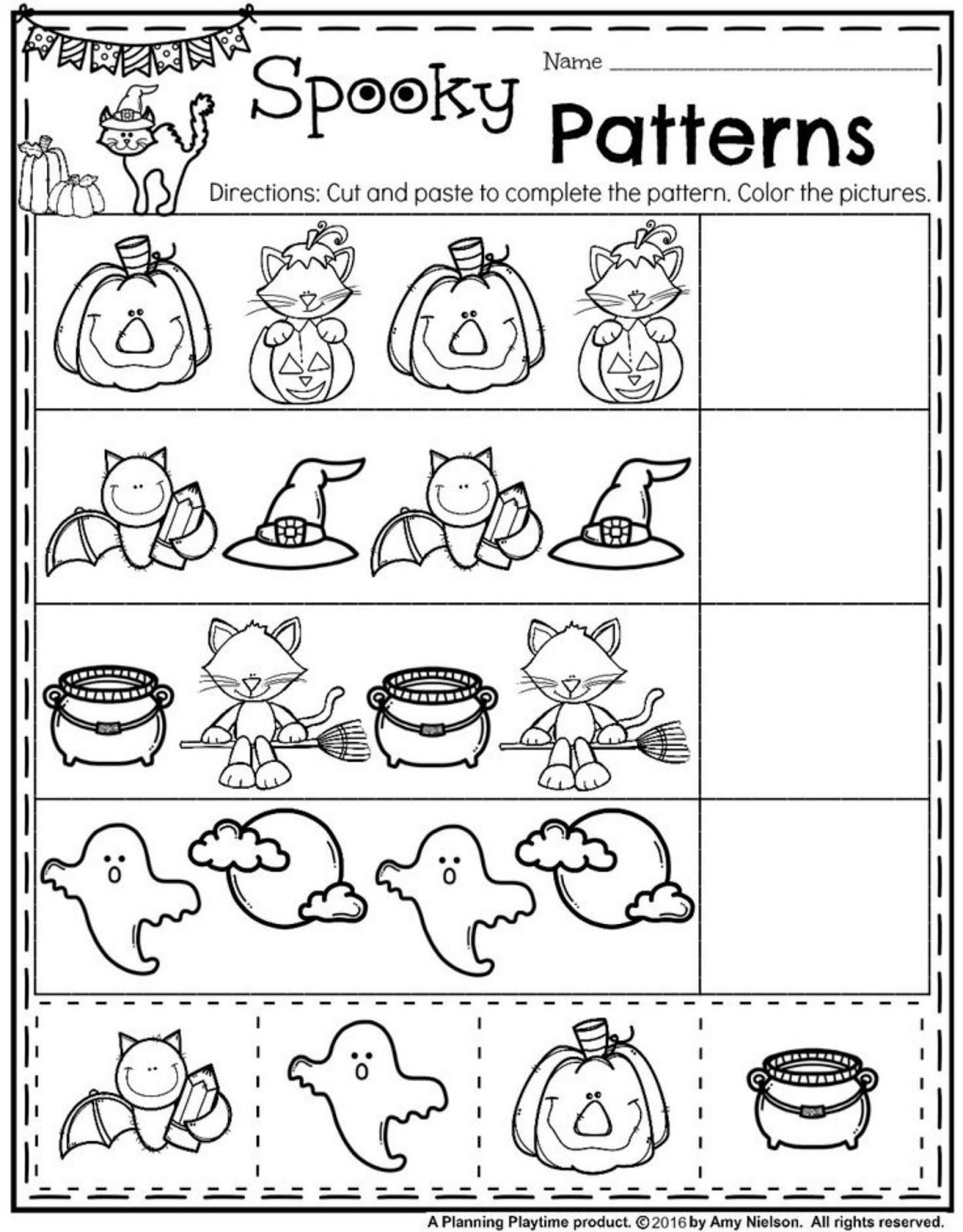 Homeschool Preschool Week 7 Halloween Printables