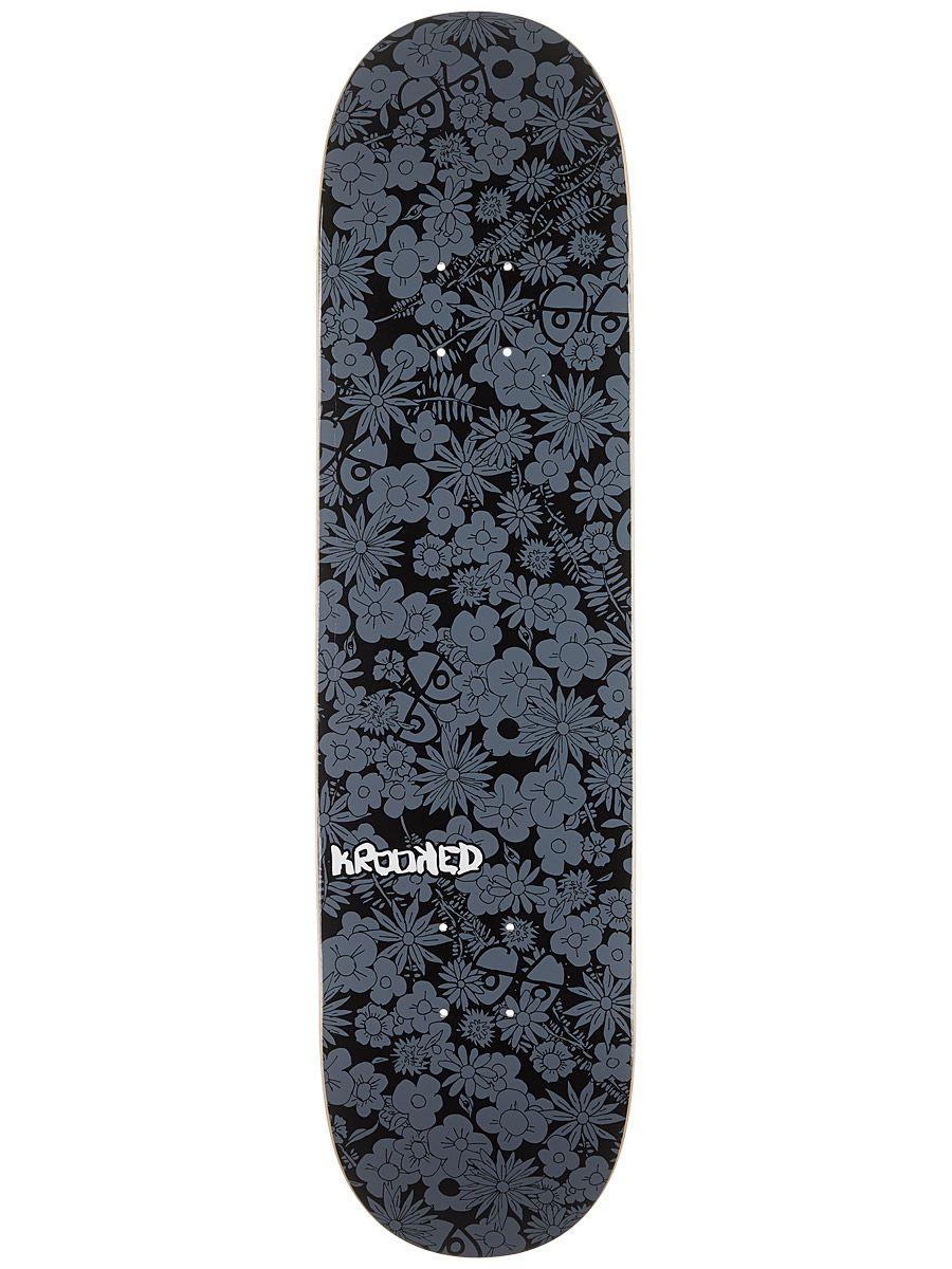 Krooked Guardin Black Price Point Deck 7 75 X 31 25 Price Point Mini Logos Deck