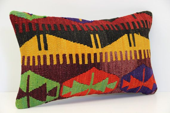 12X20 Pillow Insert Glamorous Turkish Lumbar Kilim Pillow Cover 12X20 Inches Lumbar Pillow Cover Design Ideas