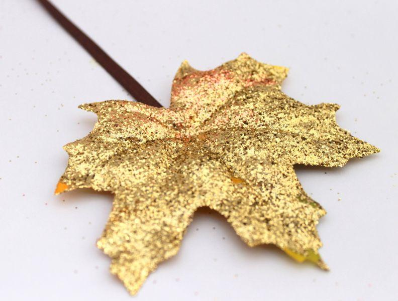 DIY Fall Glitter Leaf Garland