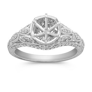 This Gorgeous Vintage Inspired Engagement Ring As Part Of Our Annata Milgrain Engagement