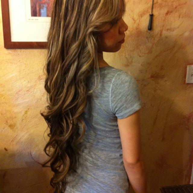 Hothead extensions?  Not! This is her real hair but you can get it with extensions for around $350.00 cheyledo.com