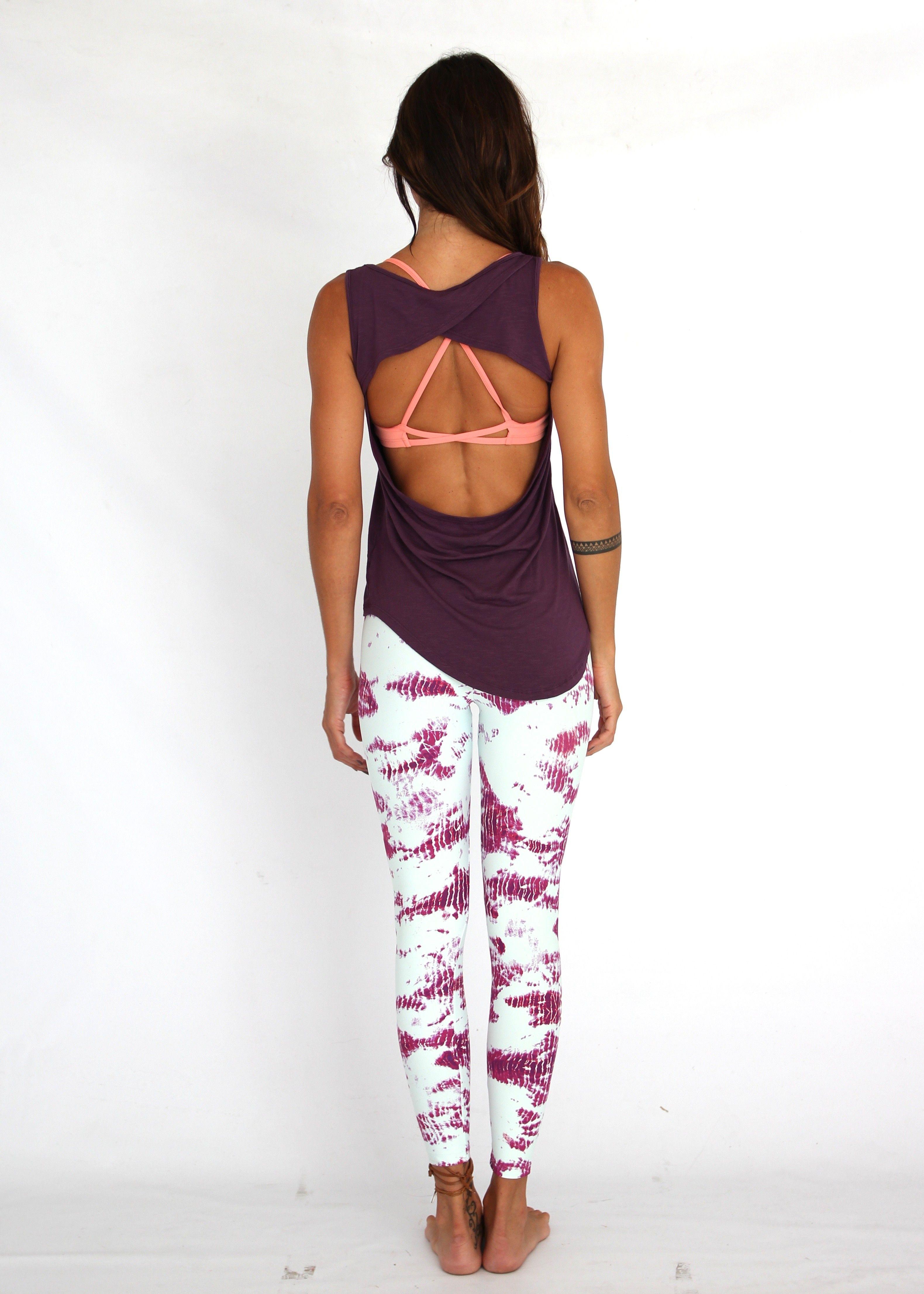 dc28fc5929932 Lean On Me Tank by Tiffany Cruikshank - Wine Workout Clothes for Women |  SHOP @ FitnessApparelExpress.com