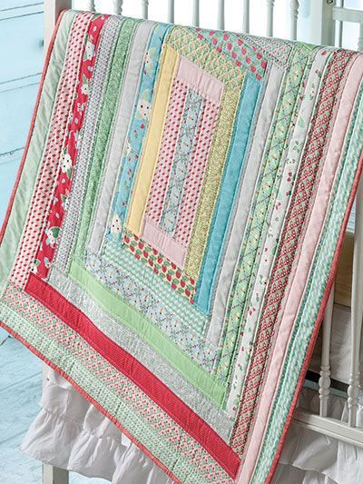 Jelly Roll Strips Make This Baby Quilt a Quick Finish - Quilting Digest
